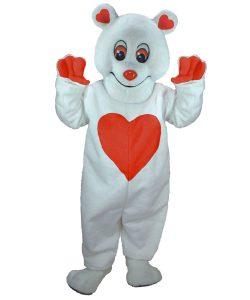 Bär Kostüm Karneval Angebote Maskottchen günstig Herz