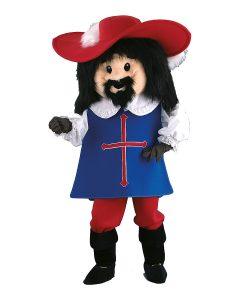 131a Musketier Kostüm Karneval Angebot Maskottchen günstige