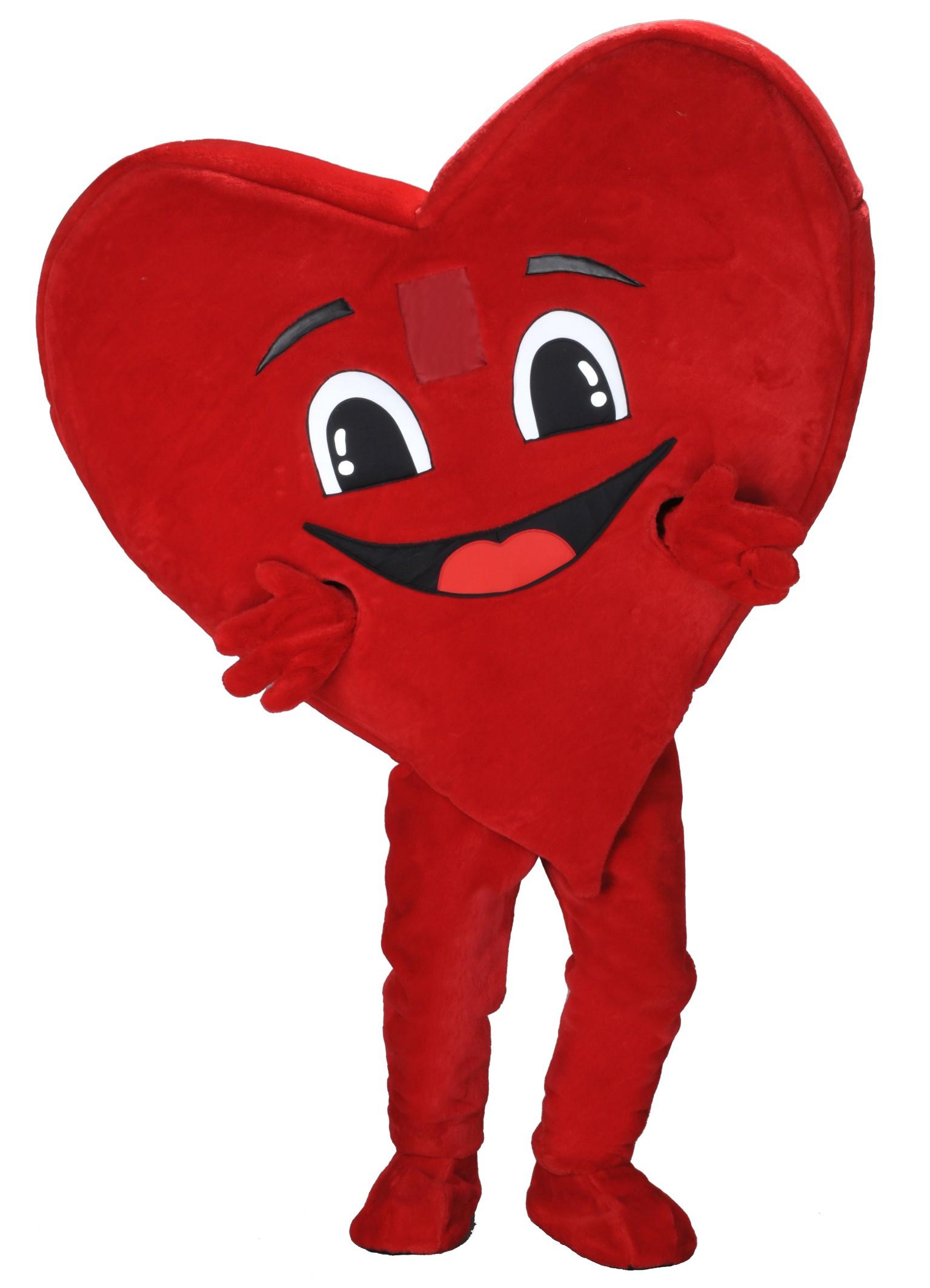 222h Herz Kostüm Karneval Angebot Maskottchen günstige