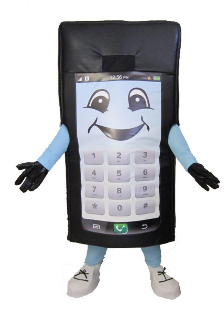 230b Handy Kostüm Karneval Angebot Maskottchen günstige