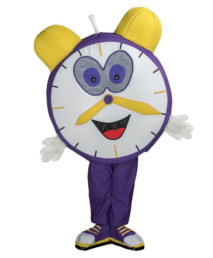 151d Uhr Wecker Kostüm Karneval Angebot Maskottchen günstige