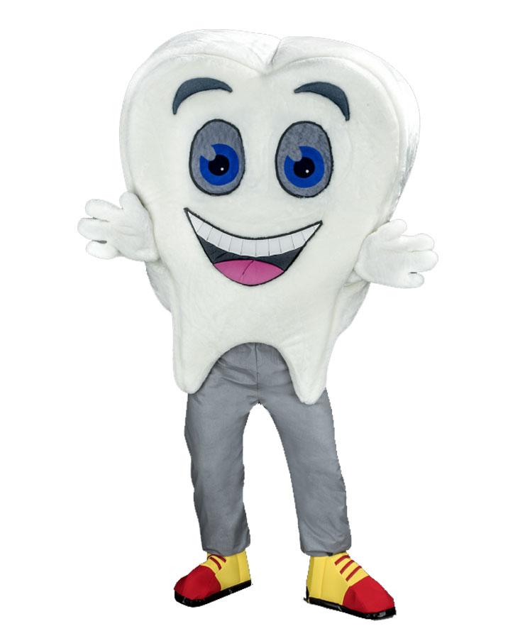 252d Zahn Kostüm Karneval Angebot Maskottchen günstige