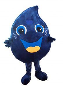 257d Wasser Tropfen Kostüm Karneval Angebot Maskottchen günstige