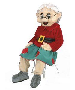 90a Weihnachtsfrau Weihnachtsmann Kostüm Karneval Angebot Maskottchen günstige