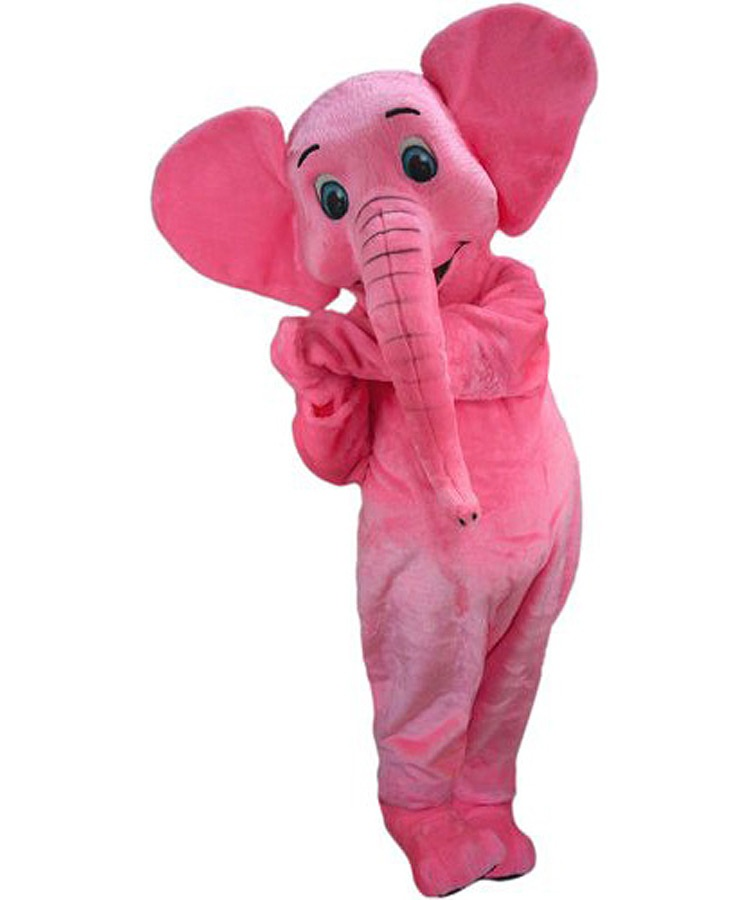 Elefant Kostüm Karneval Angebote Maskottchen günstig Pink