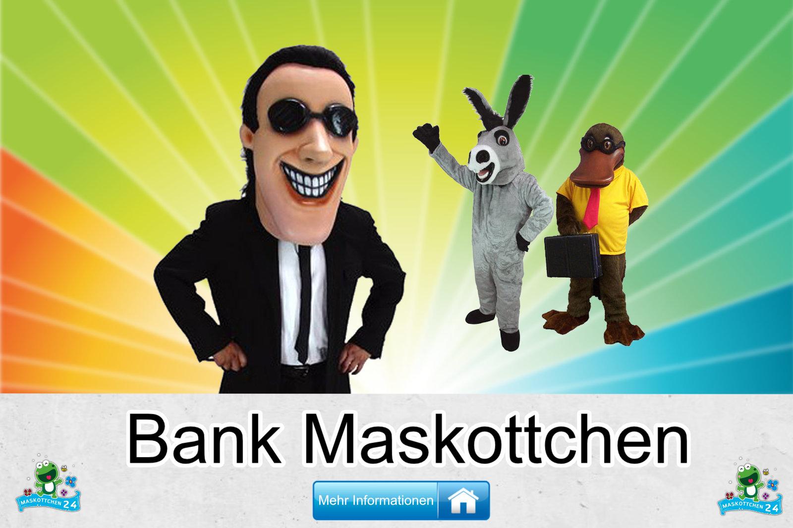 Kostüm Maskottchen Günstig-Kaufen Produktion Bank