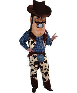Cowboy Kostüm Karneval Angebot Maskottchen günstige