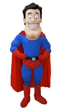 Superheld Kostüm Karneval Angebot Maskottchen günstige